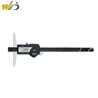 200 Mm Lcd Digital Micrometer Caliper Double Hooks Depth Caliper Stainless Steel