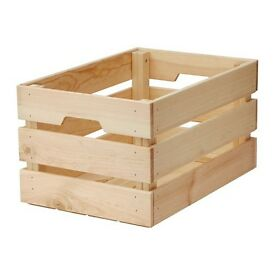 154 WOODEN IKEA KNAGGLIG CRATES £700 ONO PICK UP JULY 5TH W1U4EG