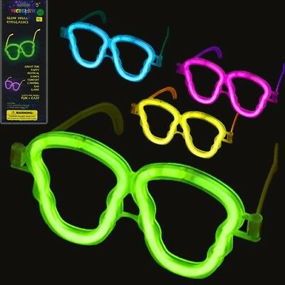 Glow In the Dark Glasses Party Favor Eyeglass Funny Shades (Pack of 48) - Glass In Glow Sticks