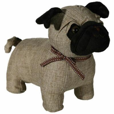 NWT Cute Pug Dog Door Stop Doorstop Fabric