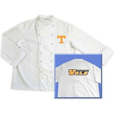 Tennessee University Volunteers Classic Chef Chefs Coat Jacket Sizes M L Xl