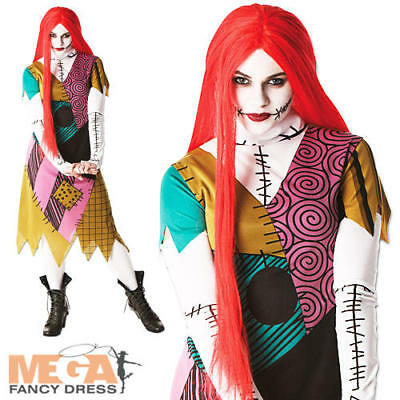 Nightmare Before Christmas Sally Halloween Kostüme (Sally Nightmare Before Christmas Ladies Fancy Dress Halloween Womens Costume New)