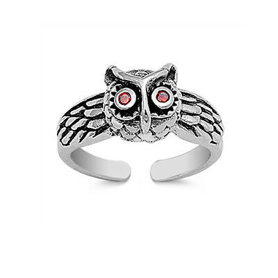 .925 Sterling Silver Classic Wise Owl Summer Toe Ring NEW