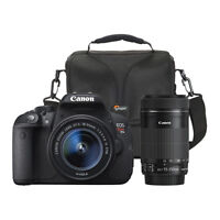 ◆Canon EOS Rebel T5i 18MP DSLR Camera 18-55mm/55-250mm Lenses◆