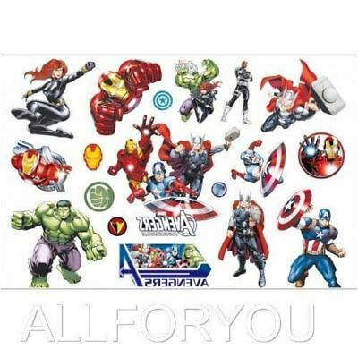 NEWEST The Avengers Cartoon Kids Boys Girls Temporary Tattoos Stickers Body Art - Avengers Tattoo