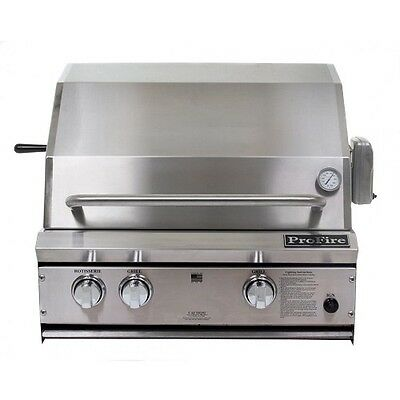 27 Inch Built In Grill - PROFIRE 27 INCH BUILT IN GRILL  PF27R - With Rear Burner and Rotisserie