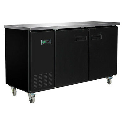 Central Exclusive 69k-104 Solid Door Back Bar Cooler 2 Doors