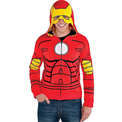 Iron Man Kostüm Hoodie (Avengers Civil War Iron Man Costume Hoodie Marvel Comics Brand New Size L/XL NEW)