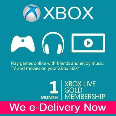 XBOX LIVE GOLD 1 MONTH (2 x 14 Day) Trial Membership Code Xbox One Xbox 360 Code for sale  USA