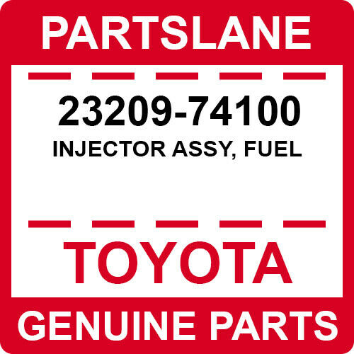 23209-74100 Toyota Oem Genuine Injector Assy, Fuel