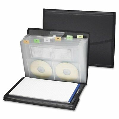 Expanding Padfolio (Smead 85830 Black Poly Pro Series Ii Pad Folio With Expanding File - (smd85830) )