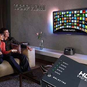 5-Port-1080P-Video-HDMI-Switch-Switcher-Selector-Splitter-IR-Remote-For-HDTV-PS3