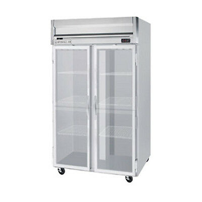 Beverage Air Hrps2hc-1g Glass Door Two-section Reach-in Refrigerator