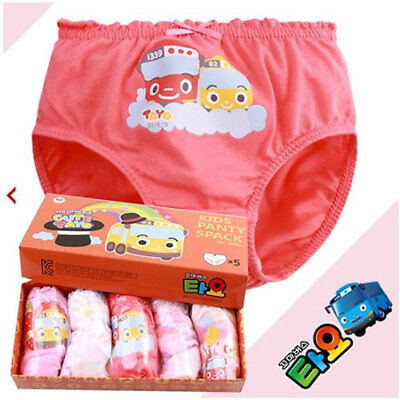 Tayo panties 5pcs set for 4~5 years old girl / Tayo underwear set (standard) (Games For 5 Year Old Girls)