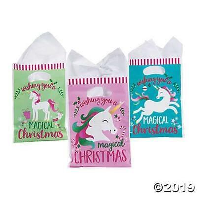 36 Christmas Unicorn Party Favors CELLO Goody Loot treat bags goody for candy
