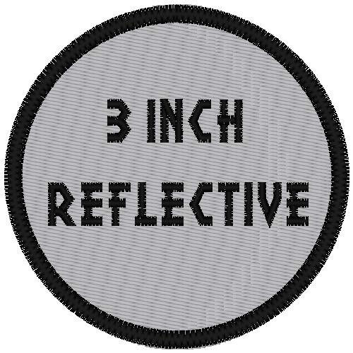 """REFLECTIVE CUSTOM EMBROIDERED  3"""" ROUND PATCH"""
