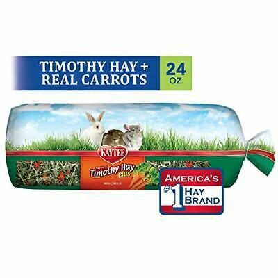 Kaytee Timothy Hay for Rabbits & Small Animals, Assorted Flavors, 24 oz Carrot