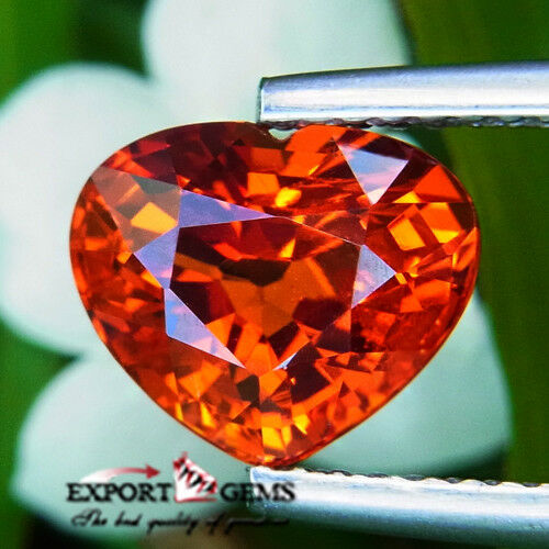 UNHEATED 3.23CT NATURAL ORANGE MANDARIN SPESSATINE GARNET