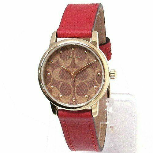 Coach Women´s Watch Quartz Ruby Leather Strap Red 14503401 $215 Jewelry & Watches