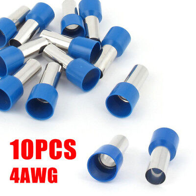 10pcs Wire Crimp Connector Cord End Terminal Insulated Ferrule Blue E25-16 4awg