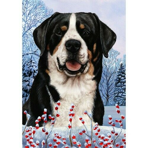 Winter Garden Flag - Greater Swiss Mountain Dog 151441