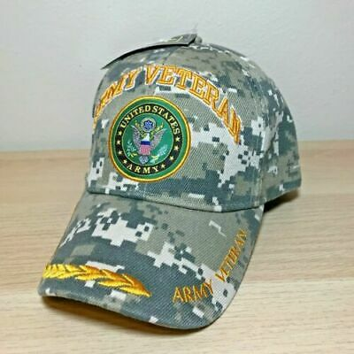 Official US Army Licensed Army Vet Veteran Embelm Hat Cap Digital Camo