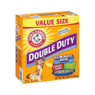 Cat Litter, Double-Duty, Clumping, 26.3 Lbs.