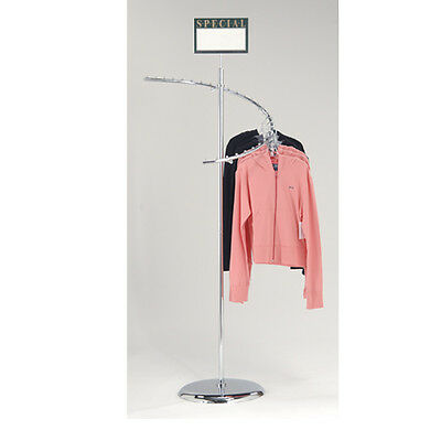 Chrome 29 Ball Spiral Clothing Rack - Spiral Retail Garment Rack