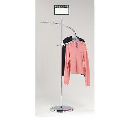 Chrome 29 Ball Spiral Clothing Rack - Spiral Retail Garment Rack