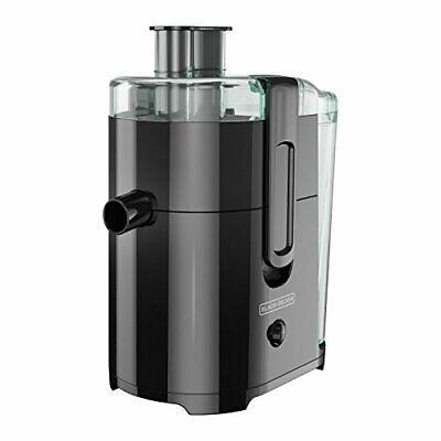 BLACK+DECKER 400-Watt Fruit and Vegetable Juice Extractor, Black, JE2400BD Black Decker Fruit Vegetable Juice Extractor