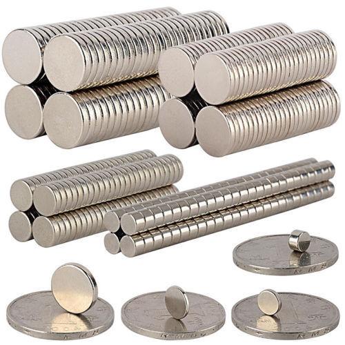 5-100Pcs Super Strong Round Disc Magnets Rare-Earth Neodymium Magnet N35/N50