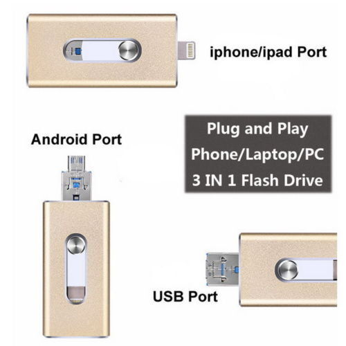 256gb Usb Easyflash Otg Memory Stick For Iphone 5 5s 6 6s...