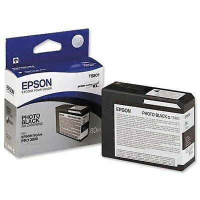 Ultrachrome Tintenpatrone Foto (Epson T5801 Ultrachrome Foto Schwarze Tintenpatrone (80ml))