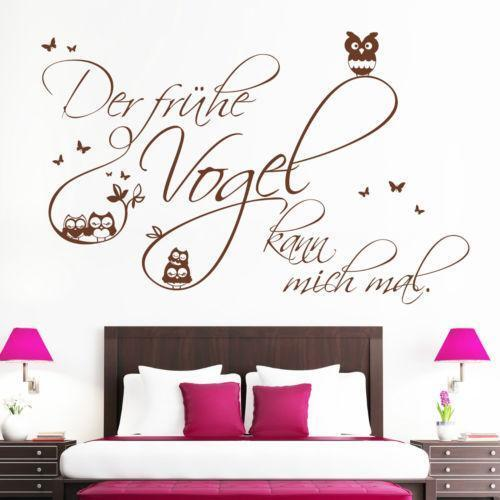 wandtattoo schriftzug wandtattoos wandbilder ebay. Black Bedroom Furniture Sets. Home Design Ideas