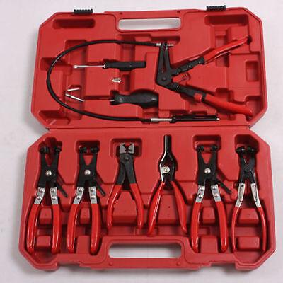 9pcs Wire Long Reach Hose Clamp Pliers Set Fuel Oil Water Hose Auto Tools HM