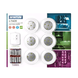 LED Push Lights Remote Kitchen or Bathroom Brand new i