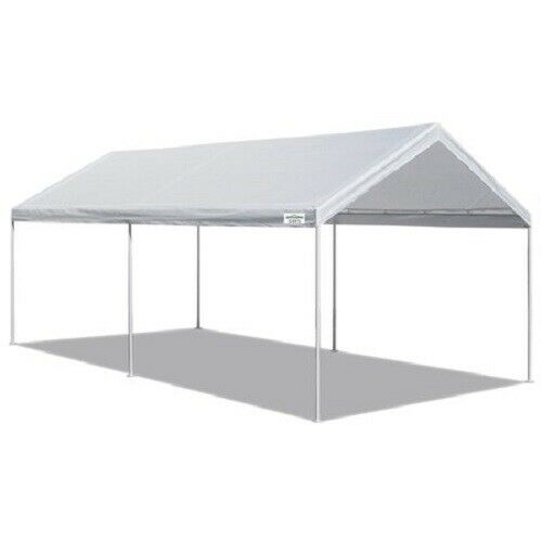 10' x 20' Domain Carport Garage White Canopy Heavy Duty Fram