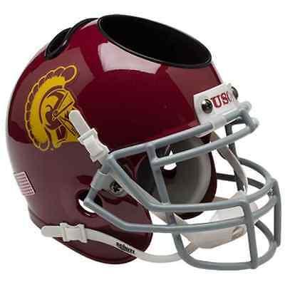 USC TROJANS NCAA Schutt Football Helmet OFFICE PEN/PENCIL/BUSINESS CARD (Ncaa Business Card Holder)