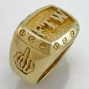 Brass Biker Rings