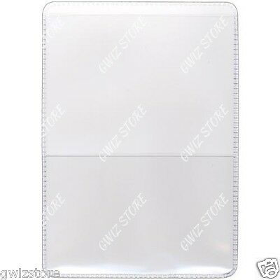 Auto Insurance Registration Id Card Holders Clear-plastic Front Double Pocket