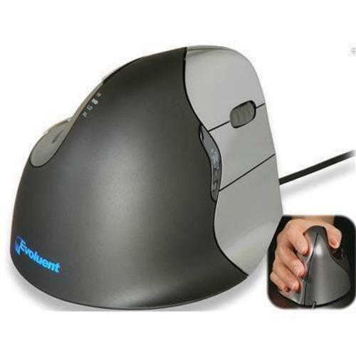 Evoluent VM4R Wired Vertical Mouse 4 right-handed Truly Ergonomic Mouse Perfect