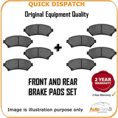 FRONT AND REAR PADS FOR SUBARU IMPREZA 1.6 10/2000-12/2004