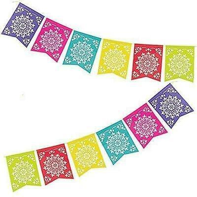 Fiesta Hawaiian Luau Mexican Flag Garland Banner Hanging Decoration
