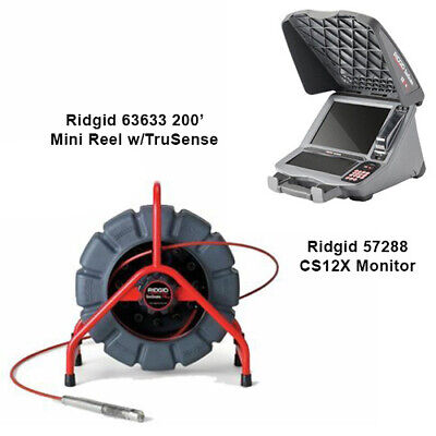 Ridgid 200 Mini Reel With Trusense 63633 Cs12x Monitor 57288