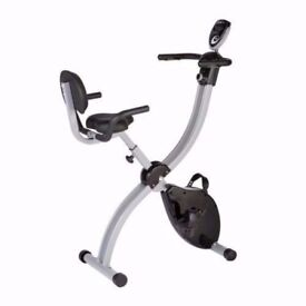 Work & Ride Exercise Bike with Work Tray, Back Support and Pulse Sensors Grab a Bargain