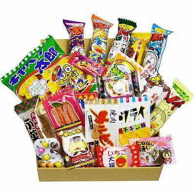 Japanese Candy Dagashi Box 20pcs Umaibo Snack Gumi potato Chip Kitty chocolate