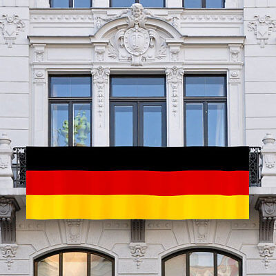 Deutschland XXL Balkonfahne 300cm x 90cm Flaggen Fahne Fussball EM & WM