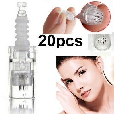 20 pcs 12 pin Needles Cartridges tips For Electric Auto Micro Stamp Derma Pen