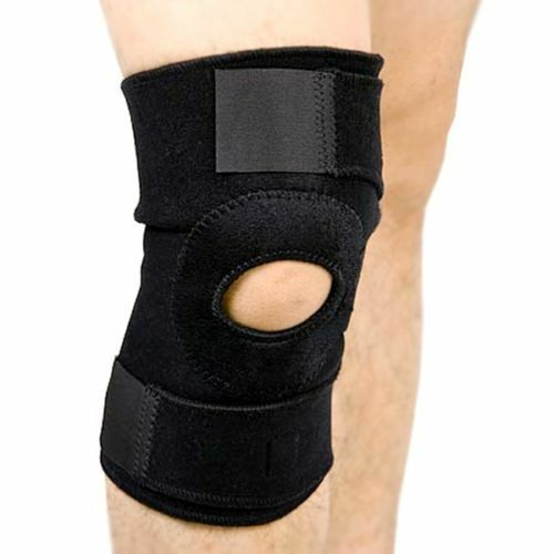 Black Neoprene Adjustable Open Knee Patella Tendon Support B
