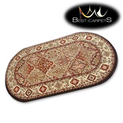 Traditionelle Ovale Teppich (Traditionell Agnella Ovale Teppiche Terrakotta Blumen Standard Moderne Designs)
